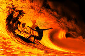 surf lava wave